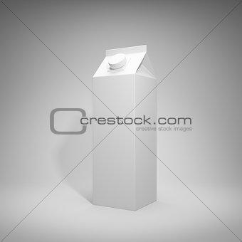 Blank milk package