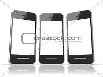 Black smart phone