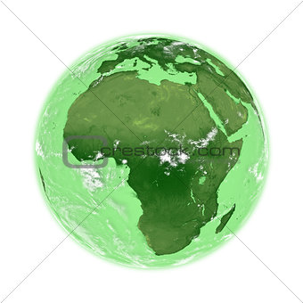 Africa on green Earth