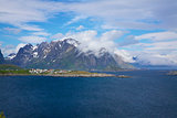 Cloudy Lofoten islands