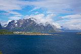 Cloudy Lofoten islands