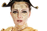 Gold face make-up