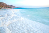 Dead Sea salty shore