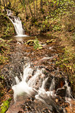 Autumn, waterfall in the forest of Cuasso al Monte - Varese