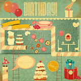 Retro Birthday Card