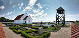 Church on Mando in the wadden sea, Denmark