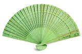 Green spanish fan