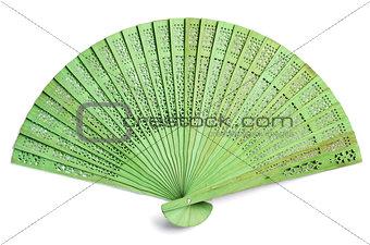 Green spanish fan