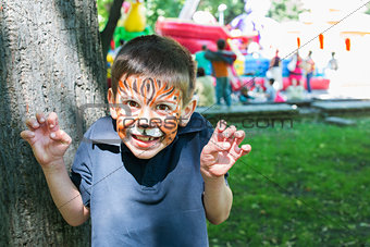 Child with painted face