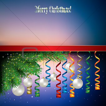 Abstract celebration background with Christmas decorations and p