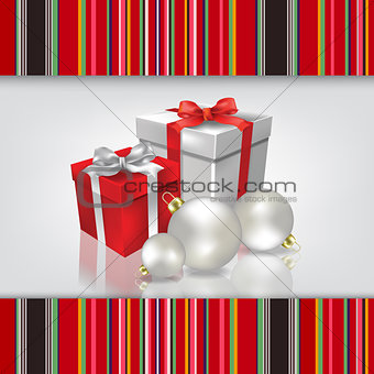 Abstract celebration background with Christmas gifts