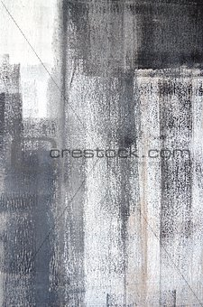 Grey and White Abstract Art Painting