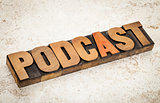 podcast - internet broadcasting concept