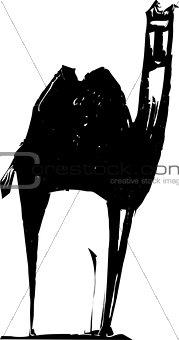 Camel Woodcut