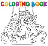 Coloring book aquapark theme 1