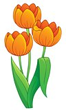 Image with tulip flower theme 1