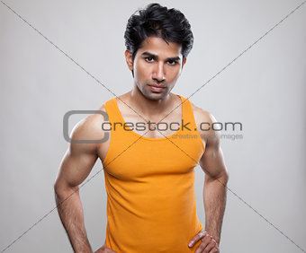 Man with a muscular body