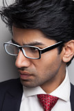 Businessman man with glasses