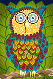 Illustration of an owl