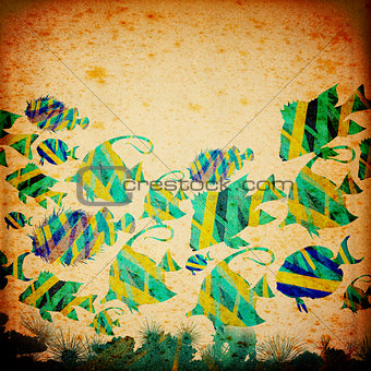 Stylized Fish Paper Background