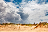 White Clouds above Guincho Beach in Cascais near Lisbon, Portuga