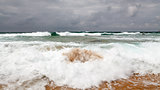 Stormy Day at Guincho Beach in Cascais near Lisbon, Portugal