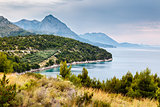 Adriatic Sea and Mountains near Dubrovnik, Dalmatia, Croatia