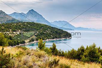 Adriatic Sea and Mountains near Dubrovnik, Dalmatia, Croatia