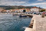 Panorama of Mediterranean Town Senj near Istria, Croatia