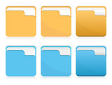 Vector set of folder icons