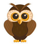 Vector owl bird
