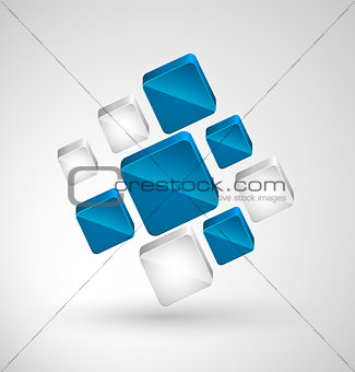 Abstract cubes with place for text.