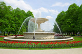 fountain in park, Warsaw, Poland