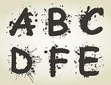 Alphabet a blot2