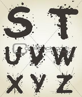 Alphabet a blot5
