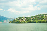 Landscape of Lake Orestiada, near Kastoria, Greece