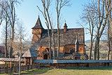 Old Wooden Church in Debno, Poland