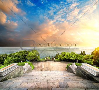 Stairs in Vorontsov park