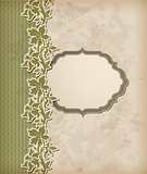 Vintage green vector background
