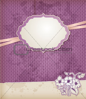 Background with violet flowers