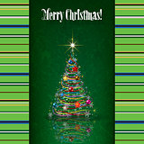 Abstract celebration background with white Christmas tree