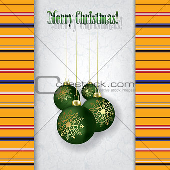 celebration grunge greeting with Christmas decorations
