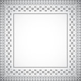 Square frame with ethnic pattern - Vector