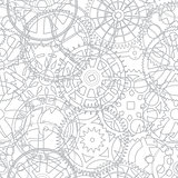 Seamless vector texture- time gears
