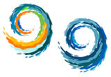 Colourful ocean waves