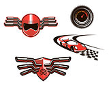 Elements and symbols of racing sport