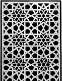 arabic pattern background black and white