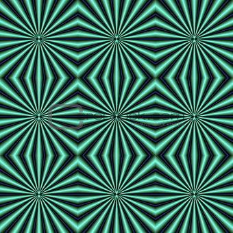 Green and Blue Quilted Pattern