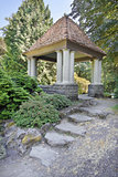 Gazebo with Natural Stone Steps