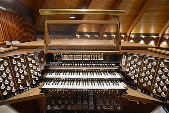 Church Pipe Organ Keyboards